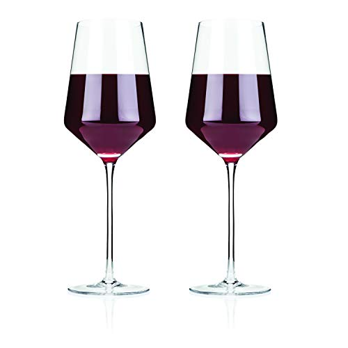 Raye Crystal Bordeaux Glasses by Viski - (Clear, Set of 2)