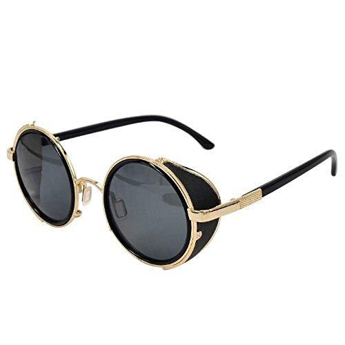 Ucspai Classic Sidestreet Crosswalk Sidecups Steampunk Sunglasses Gold&black ()
