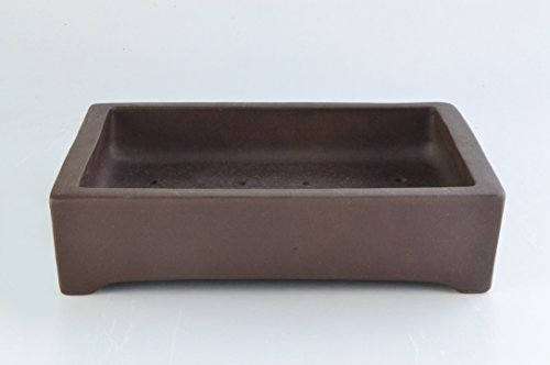 "Unglazed 14"" Rectangular Yixing Purple Clay Ceramic Bonsai Pot(PA25-14)"