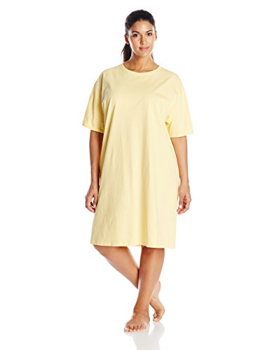 - Hanes Women's Wear Around Nightshirt, Daffodil Yellow, One Size