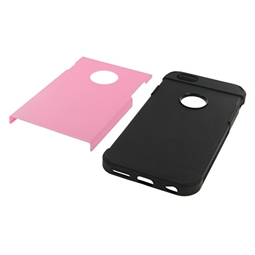 Mxnet Hybrid PC + TPU Tough Armor Farbe Hard Case Cover für iPhone 6 rutschsicher Telefon-Kasten ( Color : Pink )