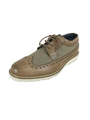 Barbour Asheton MFO0150TA51 Leather/Canvas Brogue Shoes Olive/Brown UK7