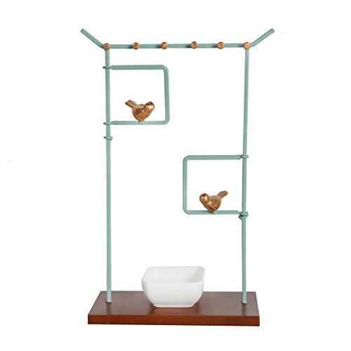 - NIKKY HOME Bird Tabletop Jewelry Stand Necklace Holder