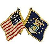 US Air Force Crossed Flags Lapel Pin
