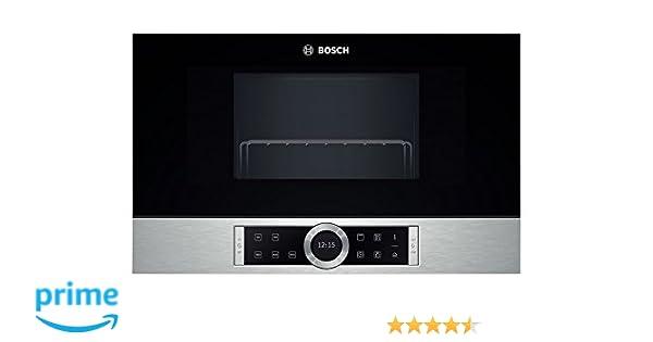 Bosch BER634GS1 - Microondas grill, 21 l, 900 W, acero y cristal negro: Amazon.es: Hogar