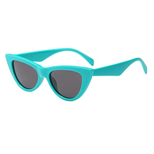Femmes Rétro UV avec à Protection Chat Yeux Cadre Lunettes Zhhlinyuan Green Étui Soleil de Classique Lunettes AqwHAa5