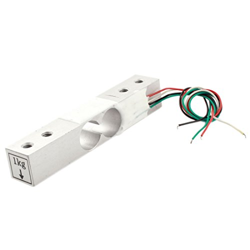 Uxcell a14071900ux0078 Aluminum Alloy Micro Load Cell Weighting Sensor 1 kg, 6 Length Wire