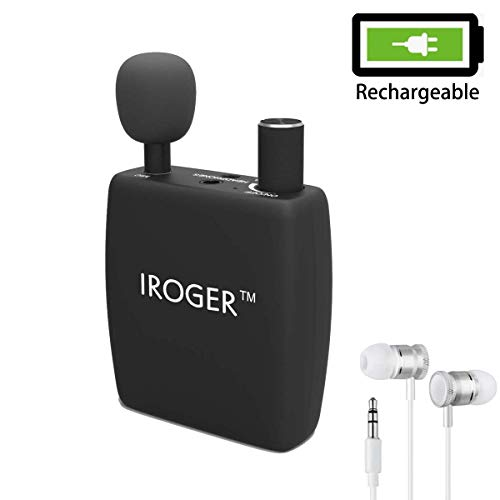 Hearing Amplifier Rechargeable Personal Sound Amplifier PSAP for Ears,Adult,3.5MM Jack Stereo,Directional Microphone (Black)