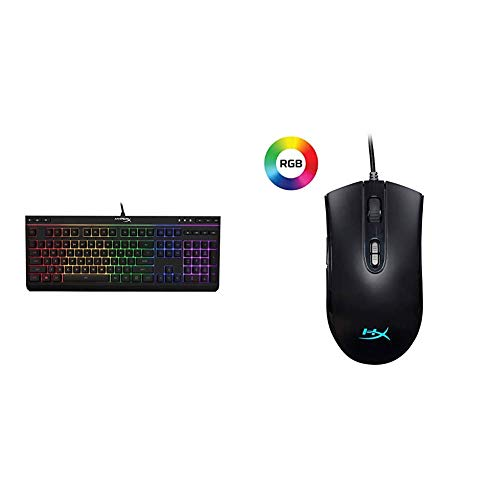 HyperX Alloy Core RGB - Gaming Keyboard - Quiet & Responsive - 5-Zoned RGB Backlit Keys and HyperX Pulsefire Core - RGB Gaming Mouse