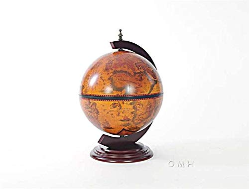 EuroLuxHome Globe Home Removable Chess Board Antique Nautical World Map Chessboard Li ()