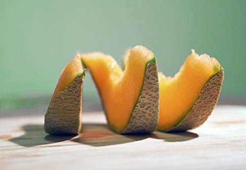 Home Comforts Canvas Print Sweet Food Melon Fruit Ripe Honeydew Cantaloupe Vivid Imagery Stretched Canvas 32 x 24