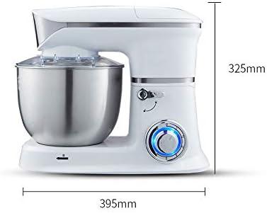 JFQ-Home Küchenmaschine, Küchen-Vertikalmixer 1000W,5L Edelstahl Rührschüssel,Mit Knethaken, Rührstab, Beat Eier Käfig