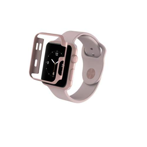 best loved ab05b 59574 ZAGG Luxe Apple Watch Protective Bumper Case - (Rose Gold, 42mm)