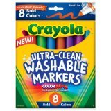 Crayola 8ct Washable Bold Broad Markers