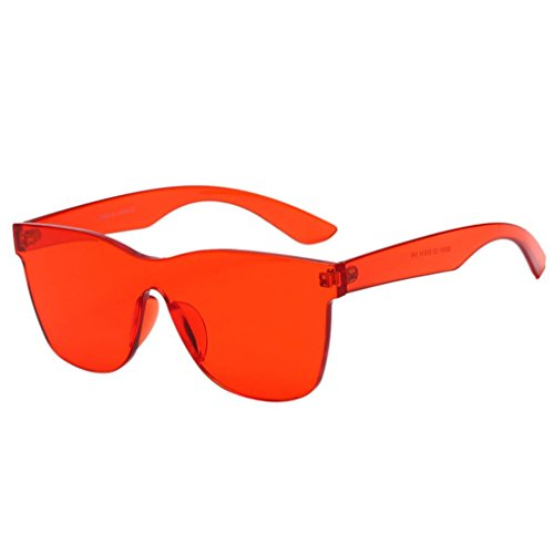 bonbons Femme Quadrate de Malloom de intégrés UV Lunettes soleil Rouge colorés Verres Shades XUvqdw
