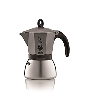 Bialetti Moka - Stove Top Espresso Maker - Induction Suitable - Aluminium & Stainless Steel - Various Sizes and Colors