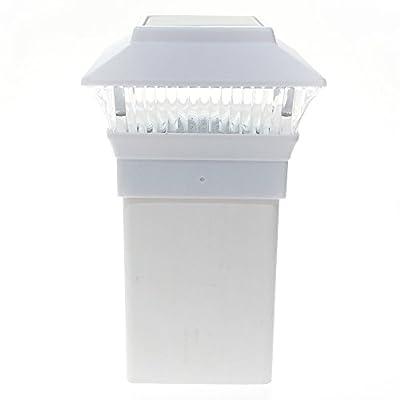 12 Pack 4x4 Outdoor Garden Solar LED White Post Cap Fence Pathway Landscape Square Light Lights Bundle Deal