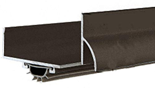 CRL Dark Bronze Anodized U Shape Door Bottom with Full Notch - 35-3/4