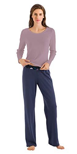 HANRO Women's Ami Long Sleeve Shirt, Lavender, Medium ()