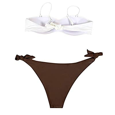 Pengy Sexy Halter Bikini Set for Women Push Up 2 Piece Swimsuit Casual Soild Bathing Suit