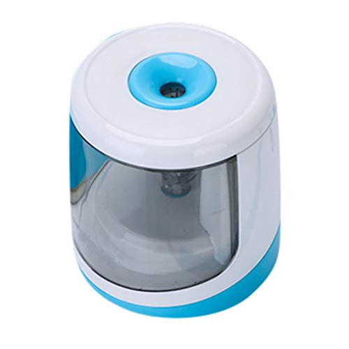 (Transser Electric Pencil Sharpener - Fast Sharpen, Auto Stop for 6-8mm Dia. Pencils, Battery Operated in School Classroom Office Home)