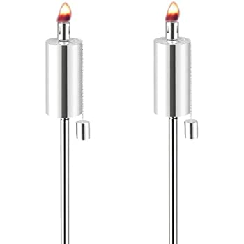 Anywhere Garden Torch - Stainless Steel Cylinder Shape Garden Torch (2 Pack)