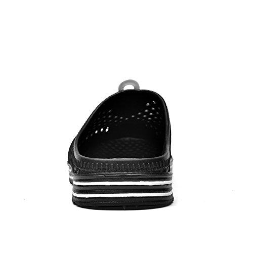 Slippers Men Black Garden Walking Sandals Shoes Clogs Women qFF7w1XP