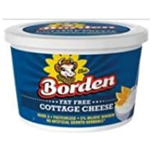 Borden Fat Free Cottage Cheese, 16 Fluid Ounce -- 6 per case.