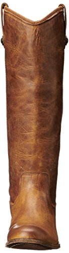 Frye Women's Melissa Button Riding Boot, Beige, US Cognac Washed Antique Pull-up-77172