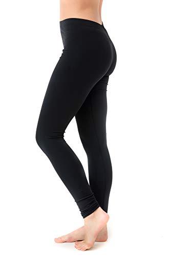 - Undercover Waterwear Women's Long Swim Leggings Athletic Leggings- UV Protection Cover Up – Plus (5X-Large, Black)