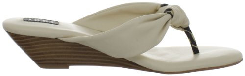 Auri Womens Adrienne Wedge Sandal Bone 7MwLLOU