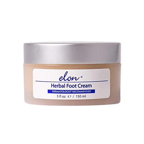 Herbal Foot Cream - Elon Herbal Foot Cream | Moisturize Dry Skin On Feet & Heels | Dermatologist & Podiatrist Recommended (5 oz)