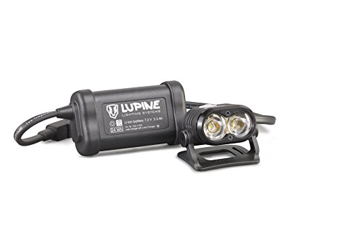 Lupine Lighting Systems Piko 4 1800 Lumen 3.3 Ah hardcase battery with velcro, helmet mount with velcro, Wiesel charger, 120cm extension cable (2018 Model)