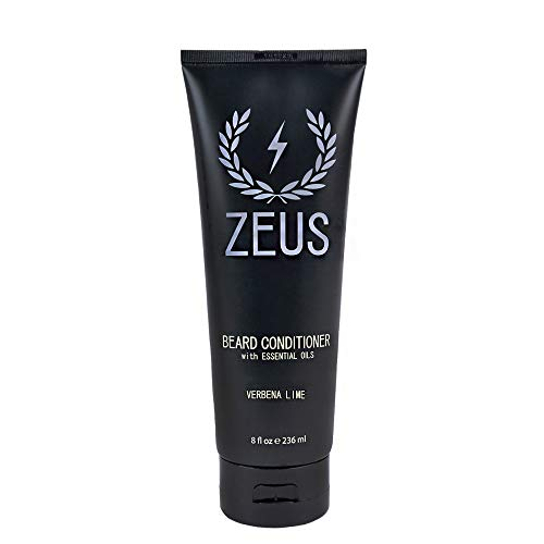 ZEUS Beard Conditioner Wash for Men – Verbena Lime Scent – 8oz – Sulfate-Free, Rinse-Out Softener