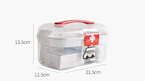 LPFMM Household Double Medicine Box, Transparent First Aid