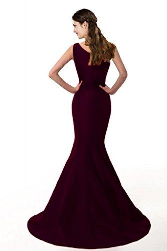 Coloredress Couleur Design Robe Courte E Sirène Élégante Une Épaule Raisin Robe De Soirée