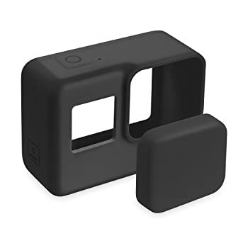 FINENIC GoPro Hero 7(Black)/6/5 Lens Protector case Accessories, Silicone Protective Cover Case and Lens Cap Protector Cover for Gopro Hero 5/6/7 ...