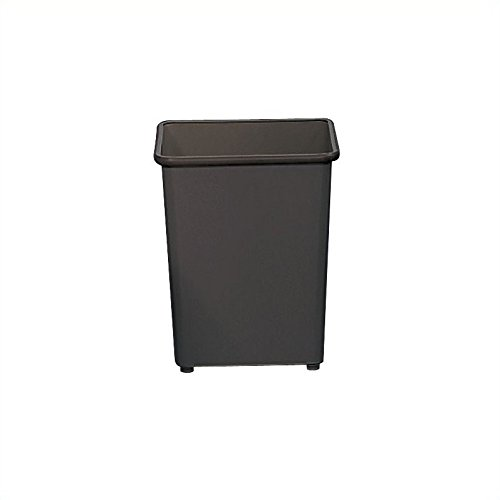 Safco Products 9612BL Square Wastebasket, 31-Quart, Black (Wastebasket Square Rectangular)