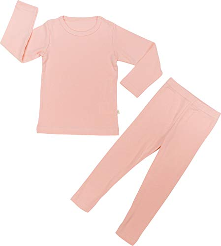 Organic Fleece (Baby Boys Girls Pajama Set 6M-8T Kids Cute Toddler Snug fit Pjs Cotton Sleepwear (Pink-2 Medium(90)/2T))