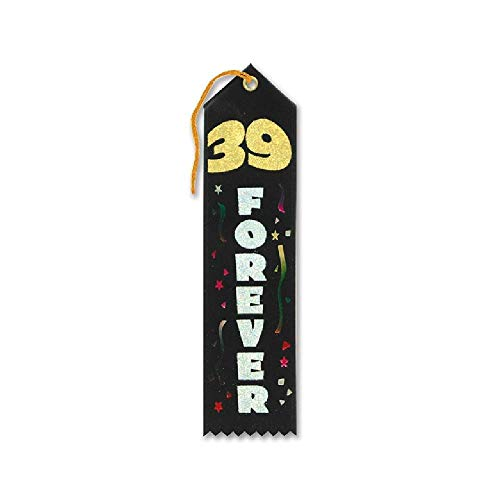 (Bargain World 39 Forever Award Ribbon (with Sticky Notes))