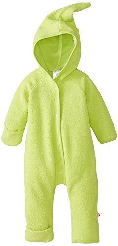 Zutano Unisex-Baby Newborn Cozie Fleece Elf Romper, Lime, 3 Months -