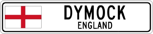 dymock-england-flag-city-sign-9x36-quality-aluminum-sign