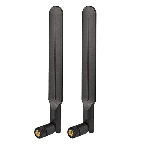 Bingfu 4G LTE 3dBi SMA Male Antenna (2-Pack) Compatible with 4G Wireless Router Gateway Remote Controller DTU Gate Opener Switch Mobile Cell Phone Signal Booster Trail Wildlife Game Hunting Camera