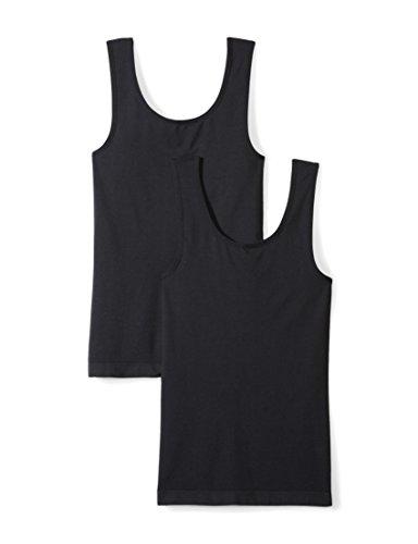 Daily Ritual Women's Seamless Tank Top, 2-Pack Shirt, Black/Black, XS (Womens Seamless Tight Tank)