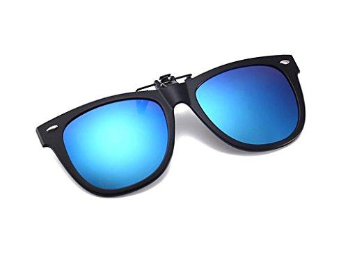 Sol Sol polarizado Sol Sujeción Tapa de en de para la contra en polarizadas con Gafas Clip de Clip Tapa Gafas de luz Gafas Azul Redondo polarizado con Sol de Gafas Hombre para Clip Tukistore Clip Damas wPFqnnIR6S