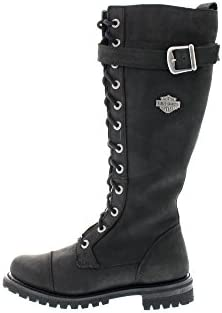 harley_davidson Chaussures Femmes - Bottes Savannah - Black, Taille:EUR 36