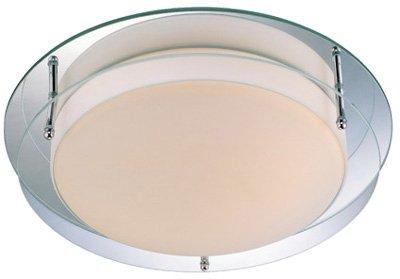 Lite Source LS-5588 Flush Mount Lite, Mirror/Glass Shade