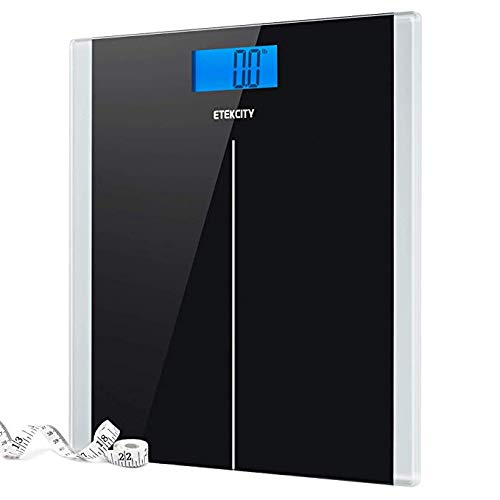 Etekcity Digital Body Weight Bathroom Scale with Step-On Technology, 400 Pounds, Body Tape Measure...