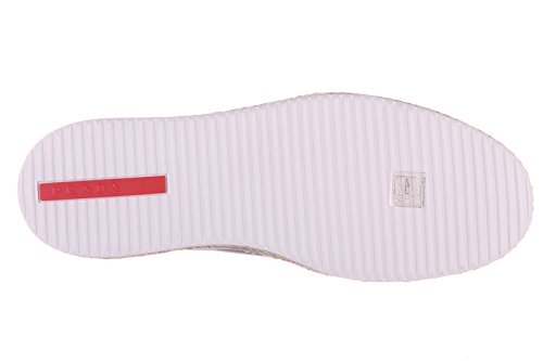 Sneakers On Slip Prada En Cuir Homme Noir Nevada v68q7