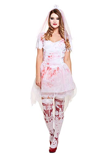 Ghostly Halloween Costumes - Rimi Hanger Womens Adult Bloody Bride